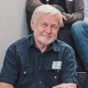 Das Foto zeigt Günter Thiele, stellvertretender Vorsitzender von Lausitzer Perspektiven, bei der Gründungsveranstaltung der Bürgerregion Lausitz in Hoyerswerda (September 2020). Fotografiert von Tine Jurtz.